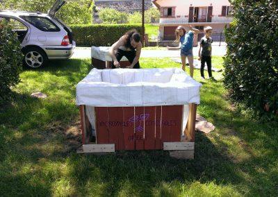 Mise en place des bacs à Tannach